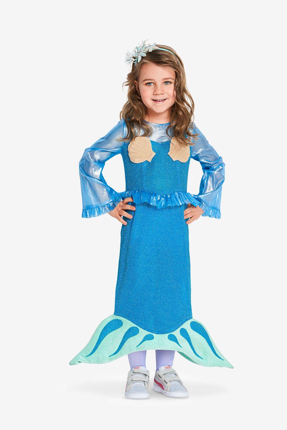 Mädchen im Meerjungfrauen-Kostüm aus dem Burda Kinder-Fasching-Schnittmuster