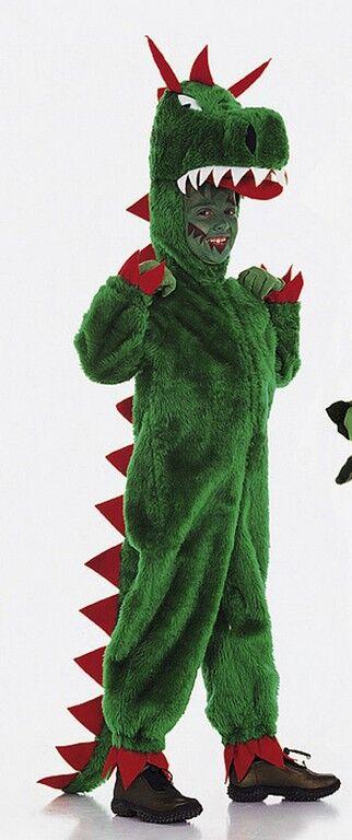 Kind im Dino-Kostüm_Burda Schnittmuster zu Fasching